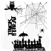 Stampers Anonymous/Tim Holtz - Cling Mount Stamp Set - Halloween Cutouts - CMS139